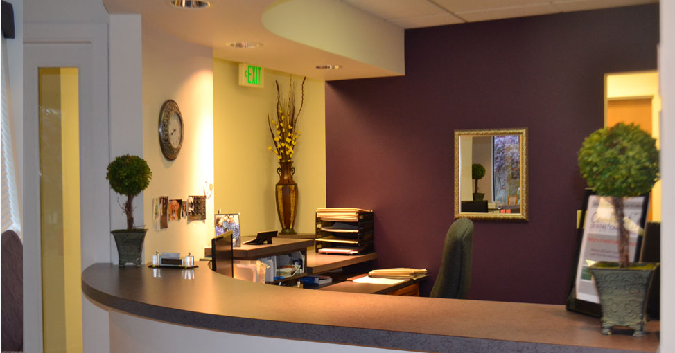 Kent Dental Clinic front desk