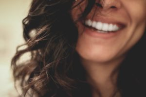 close up woman smiling